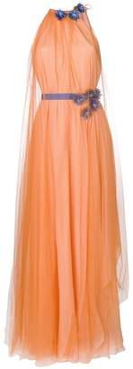 Talbot Runhof floral embellished flared gown