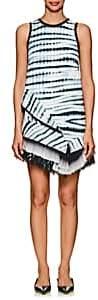 Proenza Schouler Women's Asymmetric-Hem Tie-Dyed Crepe Minidress-Black