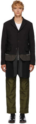 Comme des Garcons Homme Deux Black Deconstructed Blazer