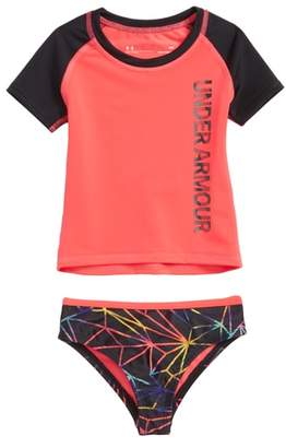 Under Armour Poly Prism HeatGear(R) Two-Piece Rashguard Swimsuit