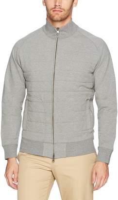 Dockers Quilted Full Zip Sweatshirt, Grey Heather
