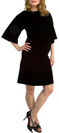 cadeau Stretch Velvet Side Shirred Dress