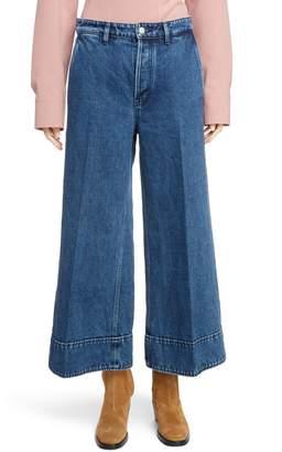 Acne Studios Crop Wide Leg Jeans
