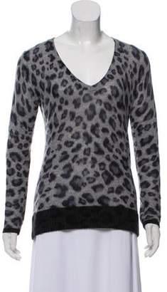 White + Warren Printed Cashmere Sweater