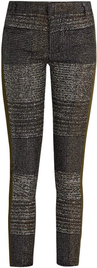 Haider Ackermann Bussey skinny-leg tweed and leather trousers