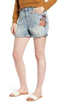 Scotch & Soda Embroidered Boyfriend Denim Shorts (Blue Dust)
