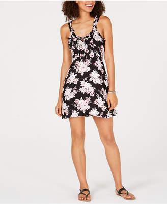 Volcom Juniors' Ruffled Floral-Print Dress