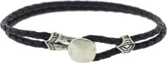 John Varvatos Double Strand Leather Bracelet