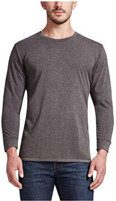 Weatherproof 32 Degrees Mens Crew Neck Long Sleeve Tee Shirt (L, )