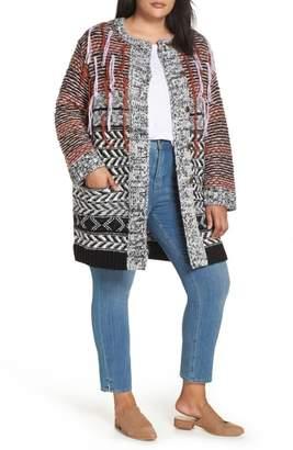 Caslon Long Sleeve Multi Knit Coatigan