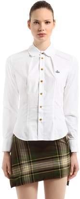 Vivienne Westwood Logo Detail Cotton Poplin Shirt