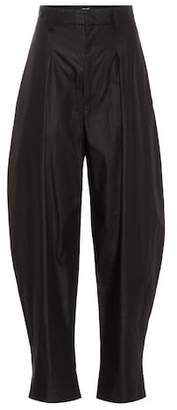 Isabel Marant High-waisted cotton trousers