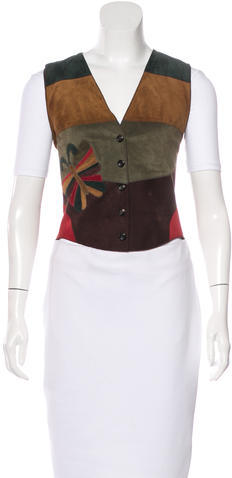 Dolce & Gabbana Dolce & Gabbana Embroidered Leather Vest