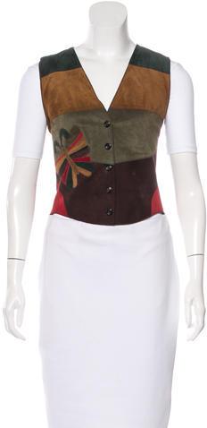 Dolce & GabbanaDolce & Gabbana Embroidered Leather Vest