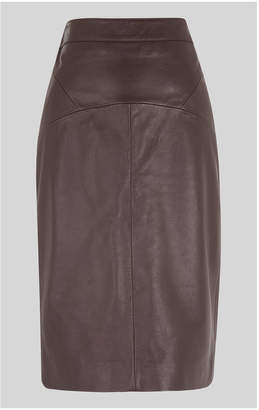 ca0f8cc57a Whistles Leather Skirt - ShopStyle UK