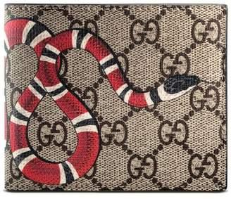 af6099b5e00 Gucci Leather Bi-fold Wallet Canvas - ShopStyle