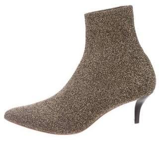 Loeffler Randall Metallic Pointed-Toe Ankle Boots