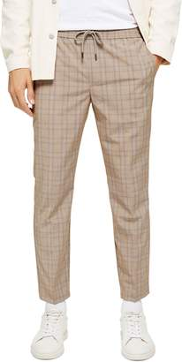 Topman Cola Sidey Drawstring Plaid Pants