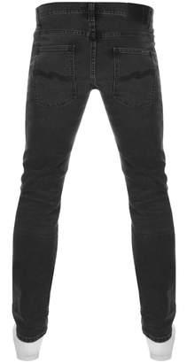 Nudie Jeans Grim Tim Slim Jeans Black Seas