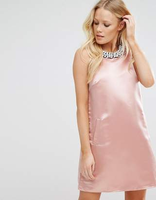 True Decadence A Line Mini Dress with Embellishment