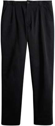Burberry Cotton Canvas Wide Leg Trousers