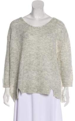 Band Of Outsiders Mohair High-Low Knit Sweater