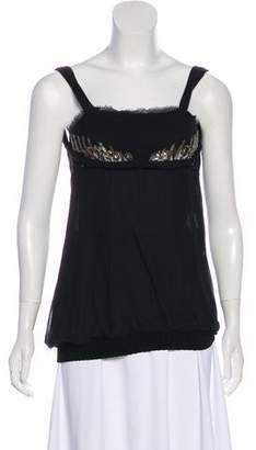 CNC Costume National Beaded Silk Top w/ Tags