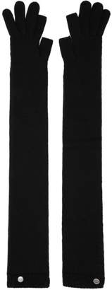 Rick Owens Black Larry Long Gloves