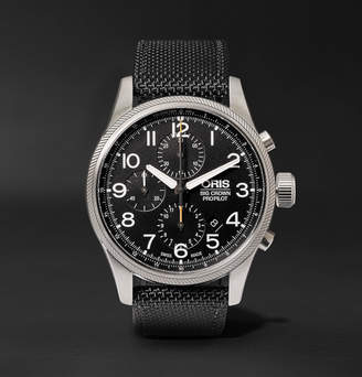 Oris Pro Pilot Automatic Chronograph 44mm Stainless Steel And Canvas Watch