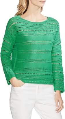 Vince Camuto Open Stitch Cotton Sweater