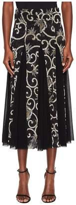 Fuzzi Tulle Patch Skirt Scrool Print Women's Skirt