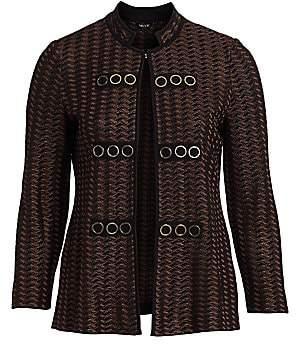 Misook Misook, Plus Size Women's Goldtone Grommet Jacket