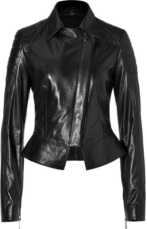McQ by Alexander McQueen Leather Historical Jacket in Black