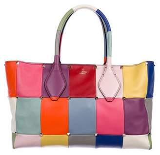 Valentino Puzzlestud Small Patchwork Tote