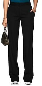 Narciso Rodriguez Women's Stretch-Wool Wide-Leg Trousers - Black