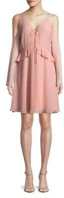 Sam Edelman Ruffled Cold-Shoulder Dress