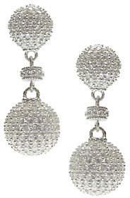 Judith Ripka Sterling Pave Diamonique Ball Drop