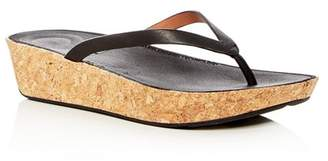FitFlop Women's Linny Leather Wedge Flip-Flops