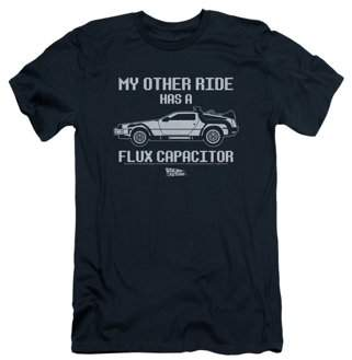 Back To The Future Sci-Fi Movie My Other Ride Flux Capacitor Adult Slim T-Shirt