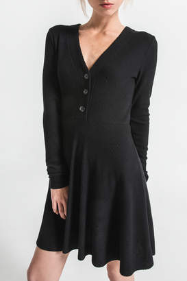 Others Follow Spencer Ribbed Button Dress
