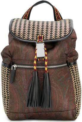 Etro woven paisley backpack