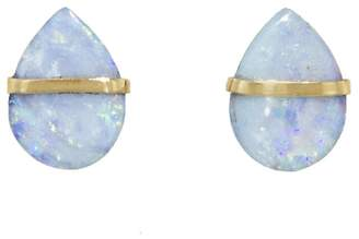 Melissa Joy Manning Opal Stud Earrings - Yellow Gold