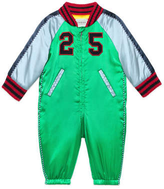 Gucci Padded Nylon Snowsuit, Size 3-18 Months