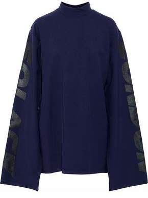 SOLACE London Fabien Oversized Printed Jersey Mini Dress