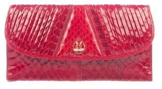 Judith Leiber Glazed Snakeskin Wallet