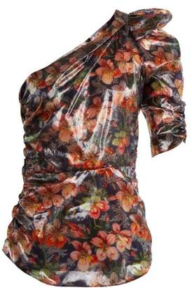 Isabel Marant Omi floral-print one-shoulder top