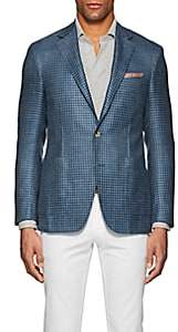Canali Men's Kei Wool-Blend Two-Button Sportcoat - Blue