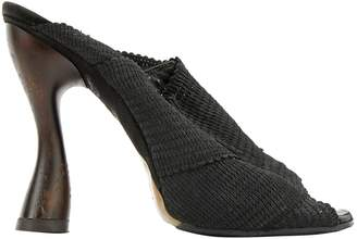 Donna Karan Black Cloth Heels