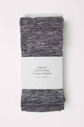 H&M Fleece Leggings - Gray