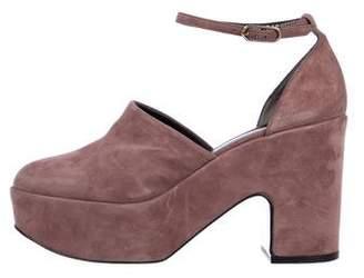Robert Clergerie Suede Platform Sandals